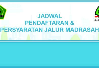 Jadwal Pendaftaran Jalur Madrasah